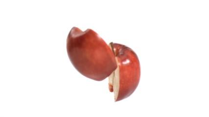 Apple falling down in super slow motion
