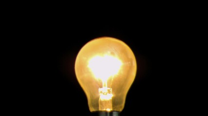 Bulb being switched on in super slow motion