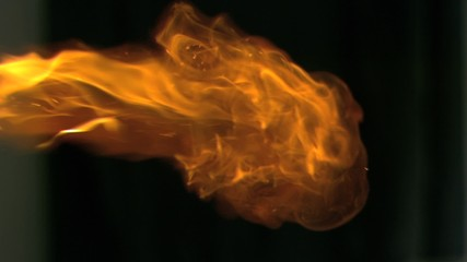 Burning fire in super slow motion