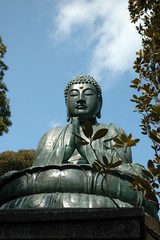 Buddha in the blue sky