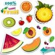 Set Summer fruits