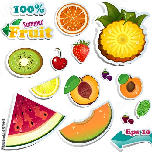 Set Summer fruits