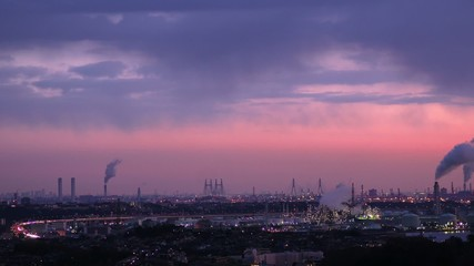 """Industrial Area Morning.""  TimeLapse"
