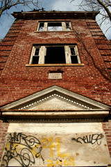 Old abandonded school building