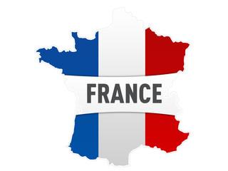 carte drapeau france