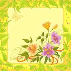 Floral background, alstroemeria