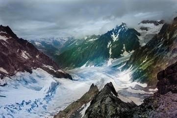 Caucasian valley