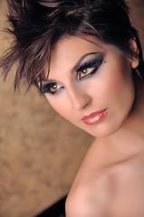 beautiful woman close up with make up