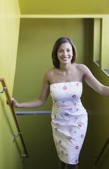 Portrait of woman in dress