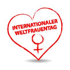 internationaler weltfrauentag - herz