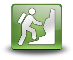 "Green 3D Effect Icon ""Climbing"""