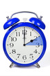 Zeitumstellung - Winterzeit - Wecker - Blau
