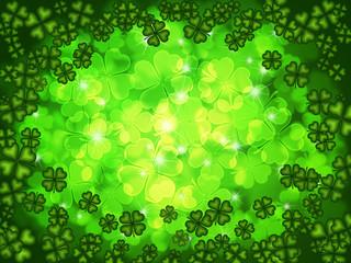 Shamrock Four Leaf Clover Background