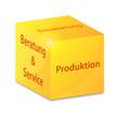 service produktions layout vektor illustration
