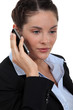 Businesswoman on mobile telephone