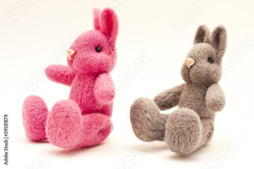 Beautiful vintage plush bunny toy - 39581879