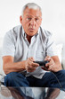 Senior Man Playing Video Game