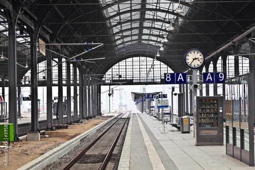 Leinwandbild Motiv railway station in Wiesbaden