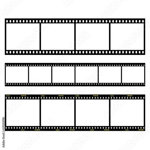 drei diverse dia filmstreifen vektor illustration
