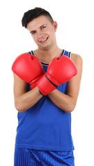 boxer smiling