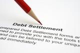 Debt settlement poster
