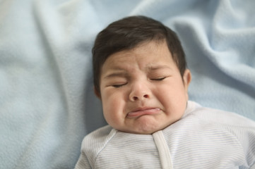 Close up of baby crying