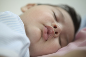 Close up of baby sleeping