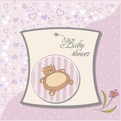 romantic baby girl shower card