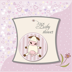 delicate girl shower card