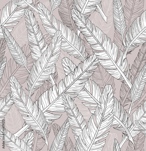 Abstract feathers pattern. Seamless pattern. - 39591212