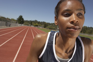 Portrait of female track participant