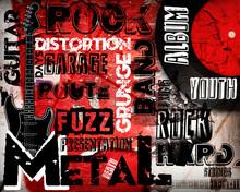 Affiche Rock Musique mur rouge