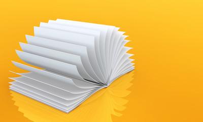 White Book on orange