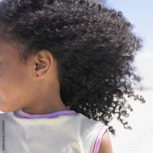 Close up ear and hair of girl