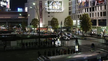 In the night of Shibuya station,in Tokyo,Japan