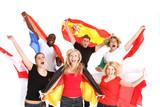 Fototapety Gruppe von Fußballfans