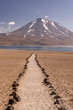 Volcano in the Atacama desert