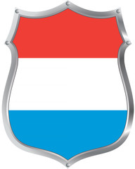 Flag of Luxembourg on a shield