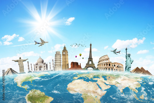 Travel the world monuments concept - 39596418