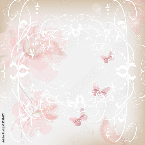 delicate floral background in pink