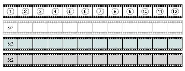 Filmstreifen, Film, Negativ, Sequenzen, Bildsequenzen, Cutter