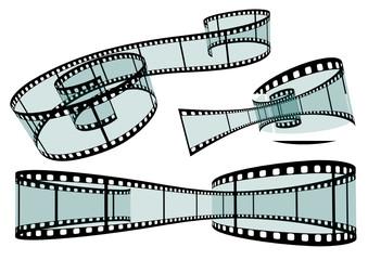 Filmstreifen, Film, Set, Negativ, Streifen 3D, Filmschnitt
