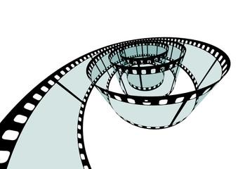Filmstreifen, Filmrolle, Film, Negativ, Streifen 3D, Perspektive