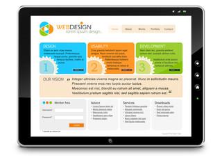 Tablet PC, Webdesign, Homepage, Webseite, Bildschirm, Design