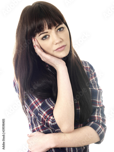 Upset Young Woman. Model Released