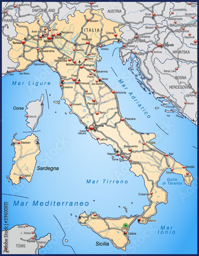 Gamesageddon Autobahnkarte Von Italien In Orange Lizenzfreie
