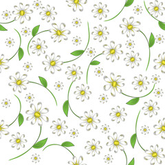 seamless pattern of daisies
