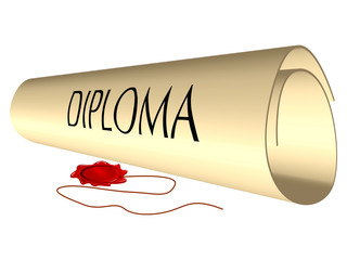 diploma and wax seal
