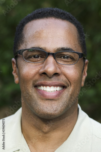 Portrait of African man with glasses