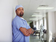 Mature male surgeon posing